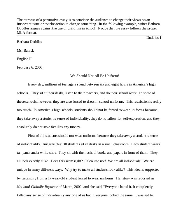 Examples Of Persuasive Essays For College Persuasive Essays Examples