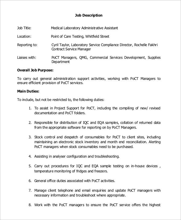 medical assistant job description sample
