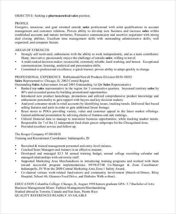 8 Sales Resume Examples Sample Templates