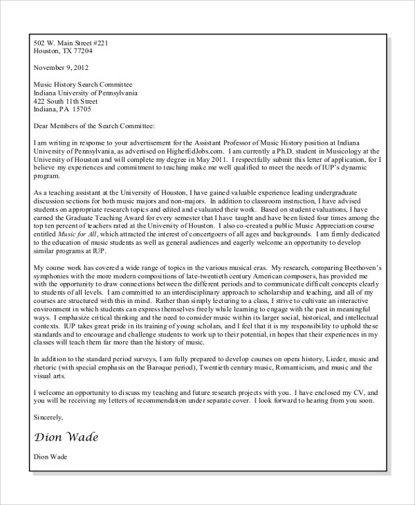 Free 7 Sample Basic Cover Letter Templates In Ms Word Pdf