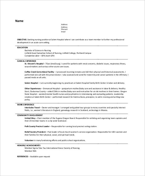 sample volunteer work on resume