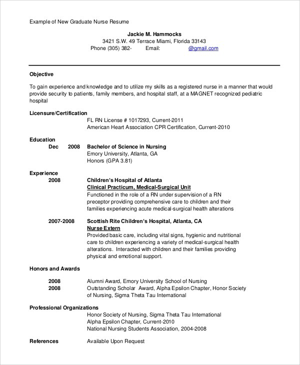 New Grad Rn Resume Template Nursing Student Resume 9 Mistakes To