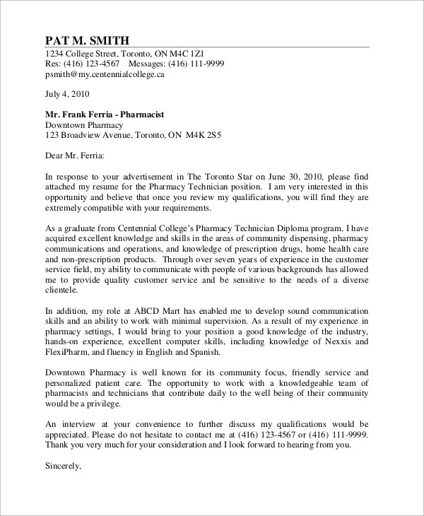 Cover Letter Samples Examples Templates  9 Samples in Word PDF