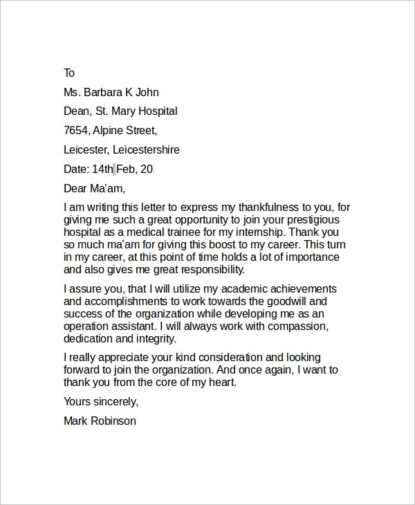 professional thank you letter sle - Drpools.us