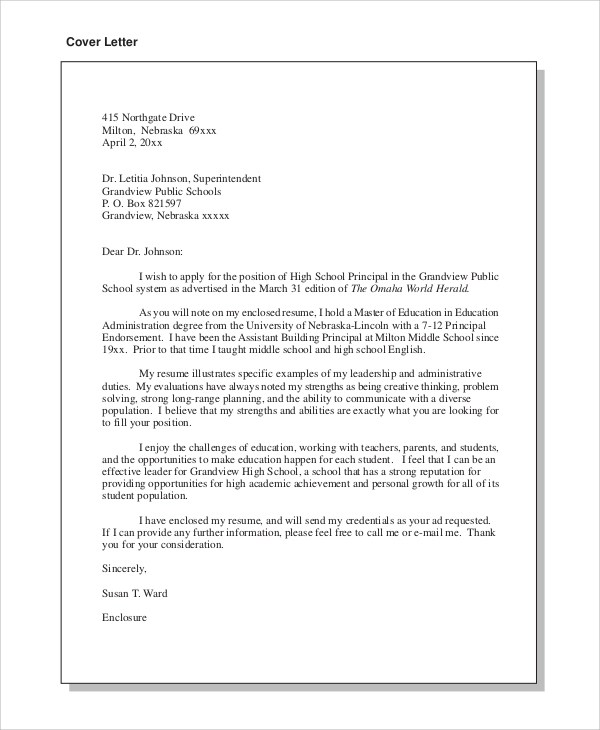 8 Cover Letter Examples For Job Sample Templates