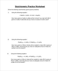 9+ Sample Stoichiometry Worksheets | Sample Templates