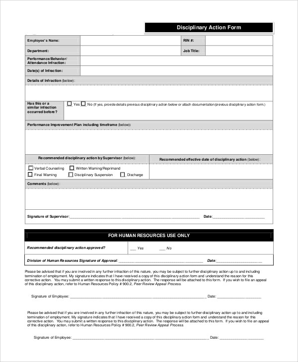 student disciplinary action form microsoft templates pinterest