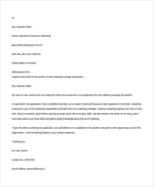 8 Resume Cover Letter Samples Sample Templates