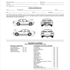 Commuter Van Damage Inspection Diagram Two Lights One Switch 8 Vehicle Forms Pdf Word Form