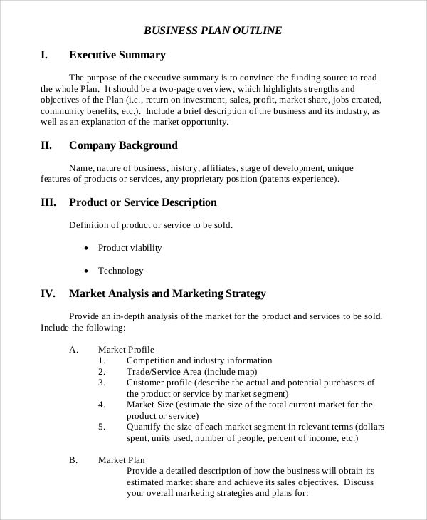 sample executive summaries for business plans
