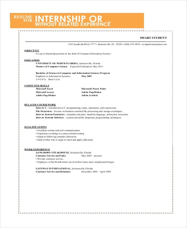 simple resume format for job pdf