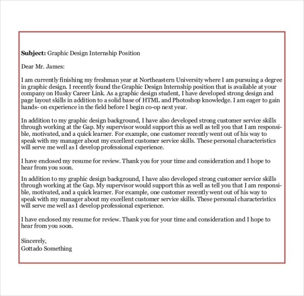 8 Sample Graphic Design Cover Letters Sample Templates