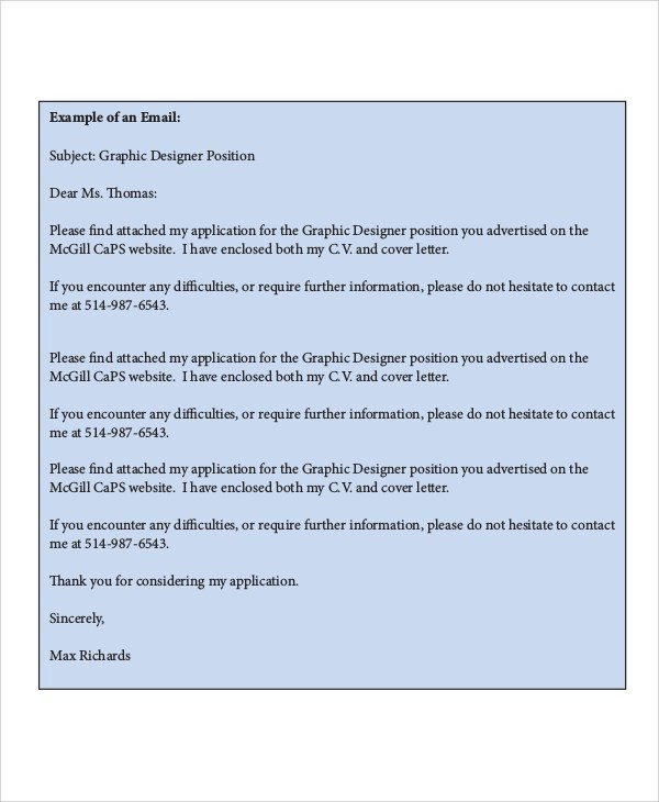 Sample Graphic Design Cover Letter  8 Examples in Word PDF