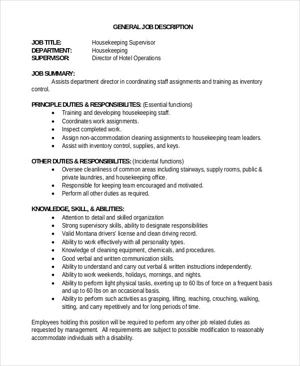 Team Manager Job Description Sample