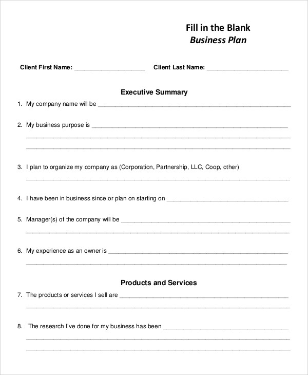 10 Business Plan Samples Sample Templates