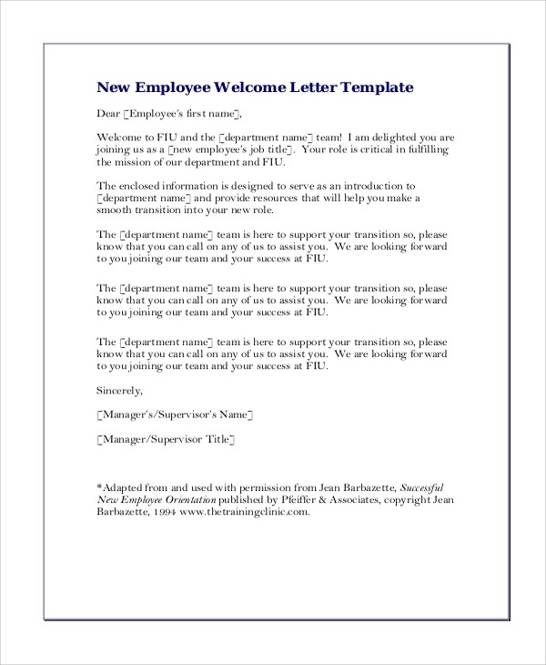 New Hire Letter Template wel e email for new hire accepting a