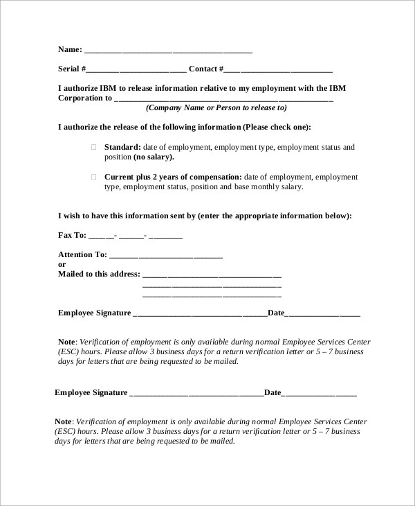 Sample Employment Verification Letter 8 Examples In