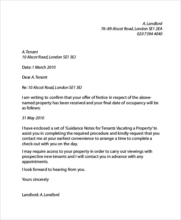 6 Sample Landlord Reference Letters Sample Templates