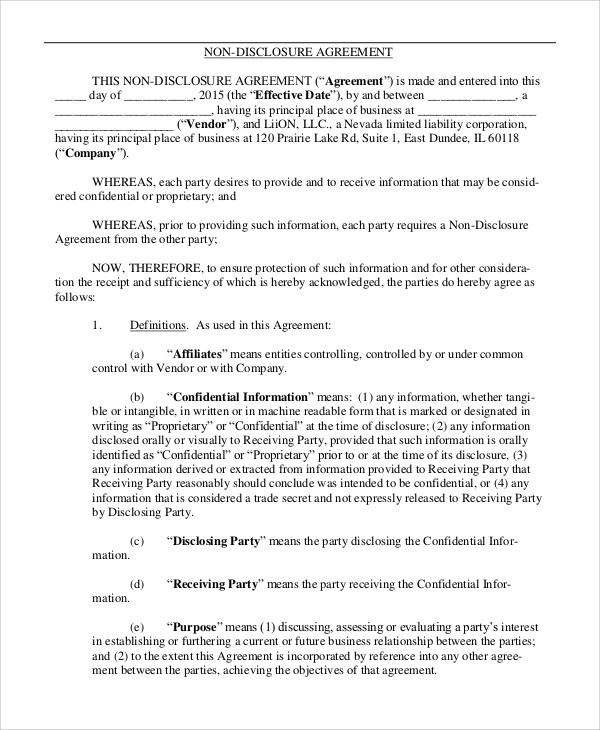Add who is the disclosing party) (the disclosing party), hereinafter referred to as the Free 9 Sample Non Disclosure Agreement Forms In Pdf Ms Word