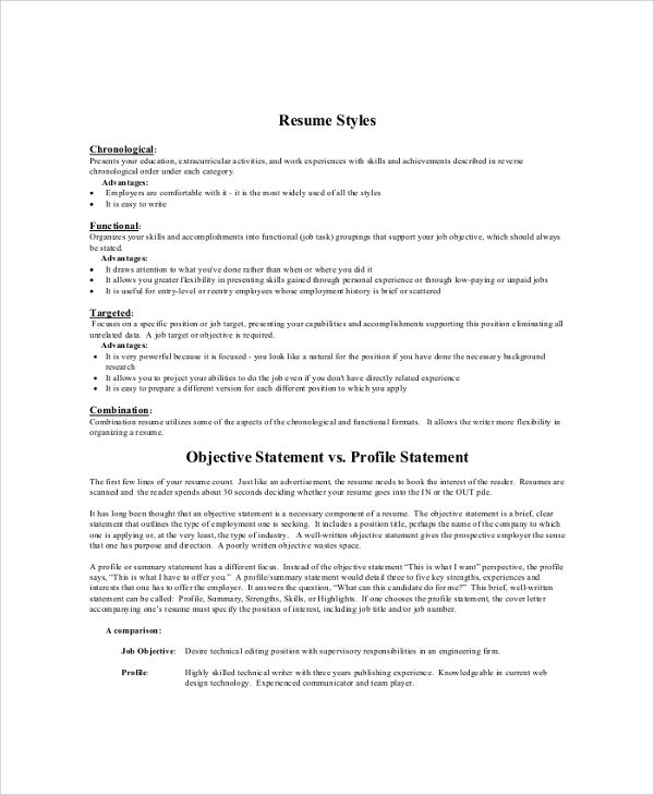 career objective examples for resume for fresher