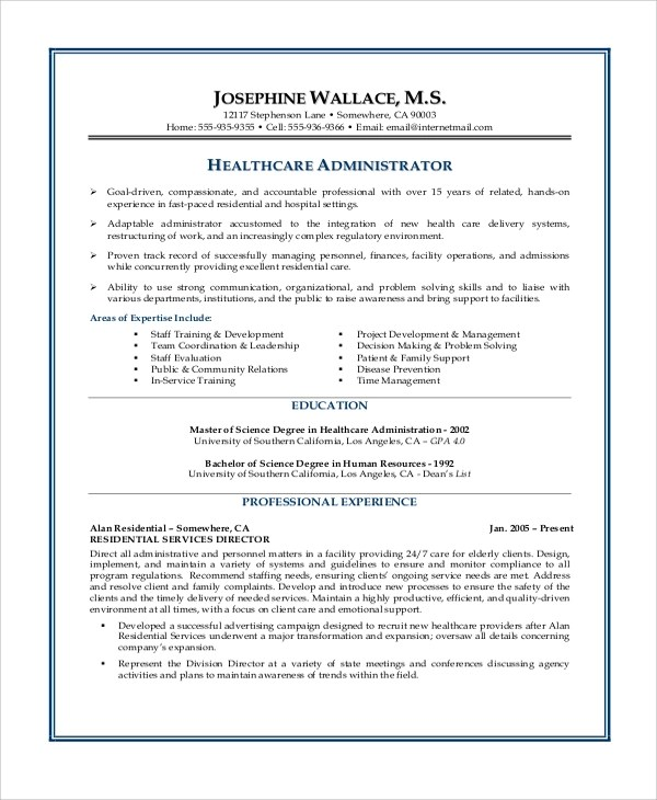 8 Sample Objectives For Resume Sample Templates