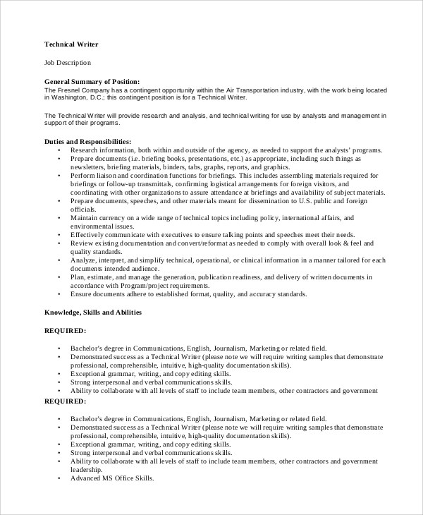 technical writer remote jobs