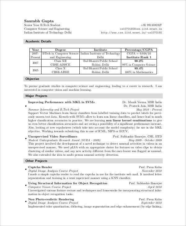 Sample Resume For Internship  10 Examples in Word PDF