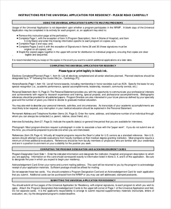Writing Residency Personal Statement For Med - Resume