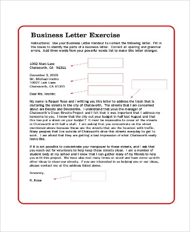 8 Business Letter Samples – PDF DOC Sample Templates