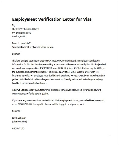FREE 10+ Sample Employee Verification Letter Templates in PDF   MS Word   Pages   Google Docs