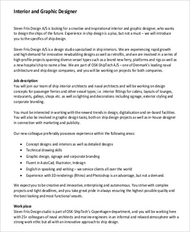 Interior Graphic Designer Job Description