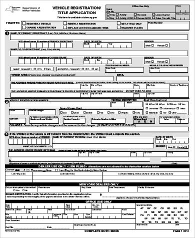 9+ Sample DMV Application Forms | Sample Templates