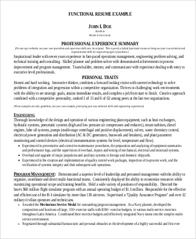 Resume Summary Statement Example 9 Samples In Word PDF