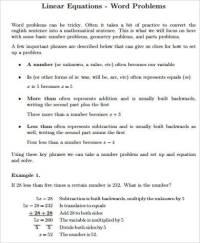 Linear Equations Word Problems Worksheet | www.pixshark ...