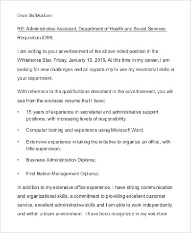 FREE 9+ Email Cover Letter Samples in MS Word   PDF