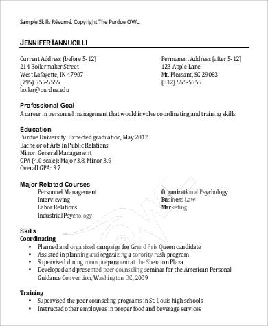 9 Basic Resume Samples Sample Templates