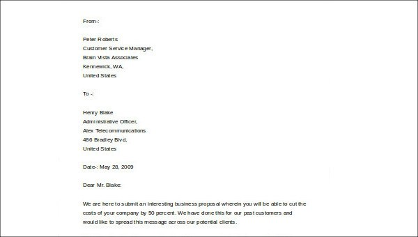 5 Business Plan Cover Letter Samples Sample Templates