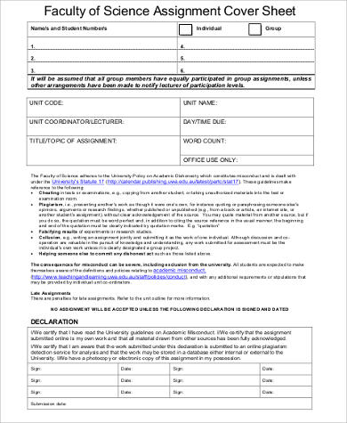 Sample Cover Sheet for Resume  4 Examples in Word PDF