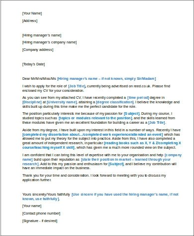 7 Cover Letter Structure Samples Sample Templates