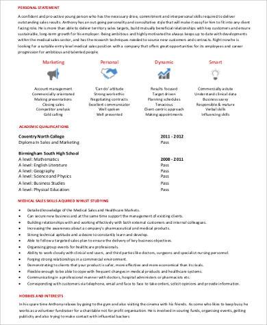 Sample Medical Sales Resume 8 Examples In Word PDF