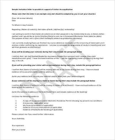 7+ Invitation Letter Samples | Sample Templates