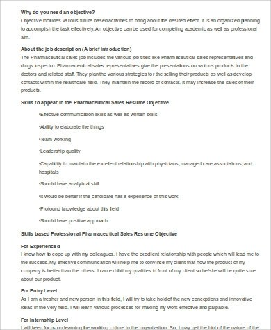Sample Pharmaceutical Sales Resume  7 Examples in Word PDF