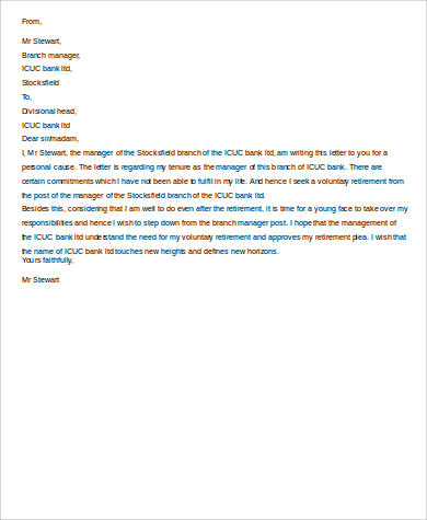Retirement Letter Sample 10 Examples In Word PDF