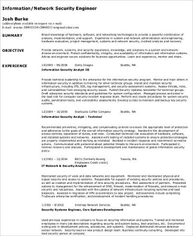 Sample Network Engineer Resume  9 Examples in Word PDF