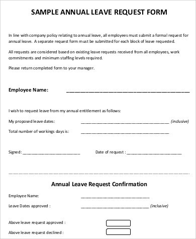 ... Leave Authorization Form Leave Request Authorization Form Sample    Format Of Leave Application Form ...  Leave Application Form For Employee