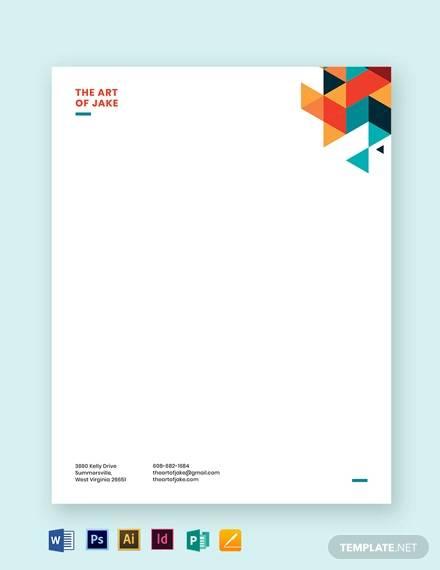 sample business letterhead template