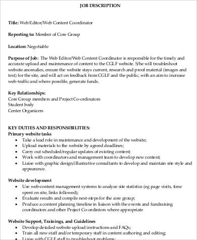 What Does A Managing Editor Do?web editor job description