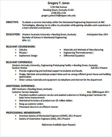 7 Sample Resume Objective Statements  Sample Templates