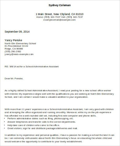 Admin Assistant Cover Letter  6 Examples in Word PDF