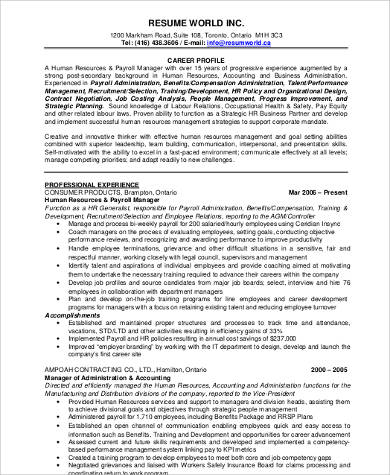 8 Sample Resume Career Objectives Sample Templates